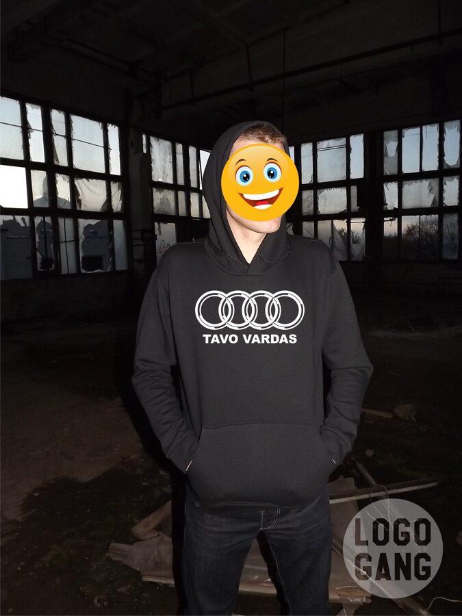 Audi džemperis su tavo užrašu