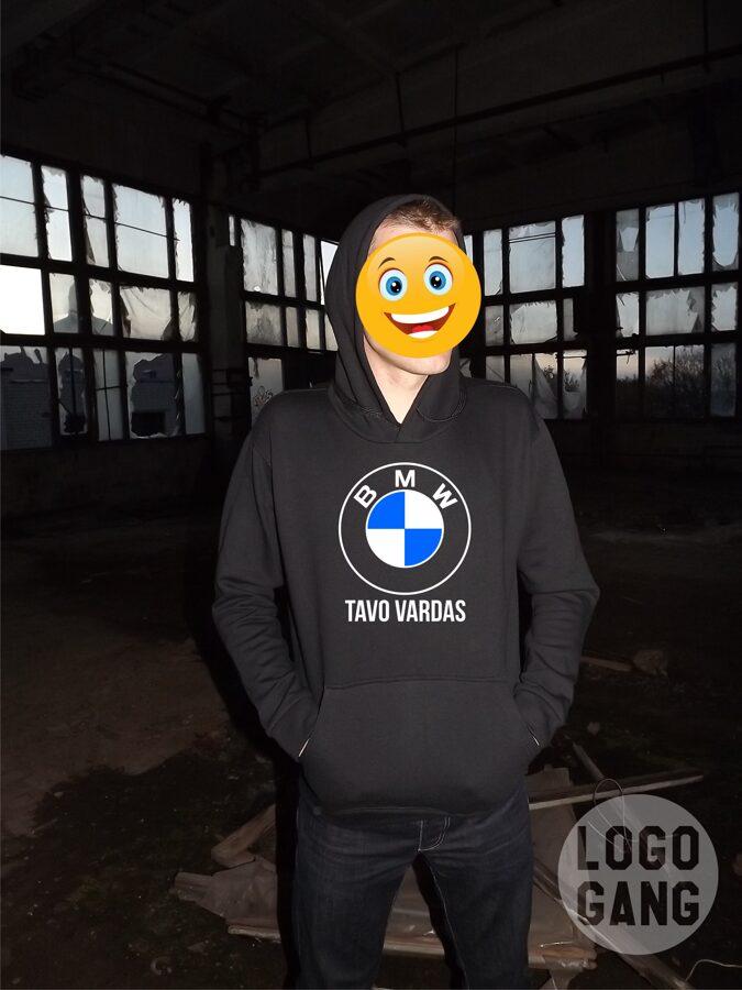 BMW džemperis su tavo pageidaujamu užrašu