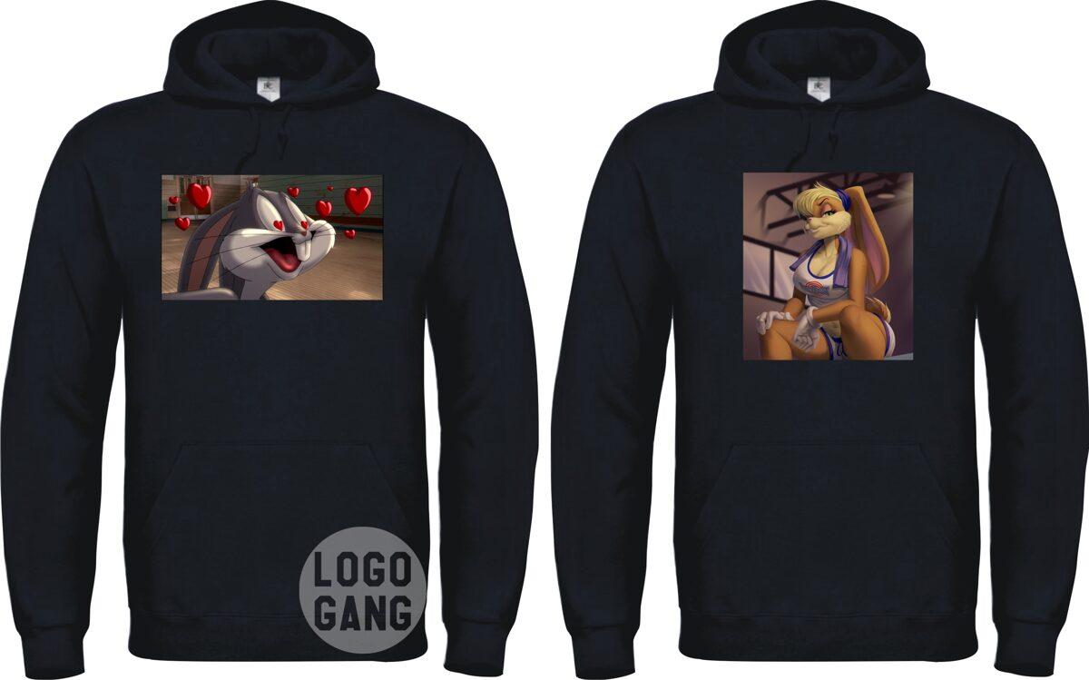 Džemperiai poroms su spalvotu paveiksliuku