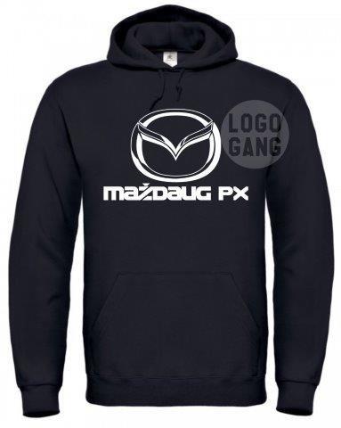 Džemperis su auto logo parodija