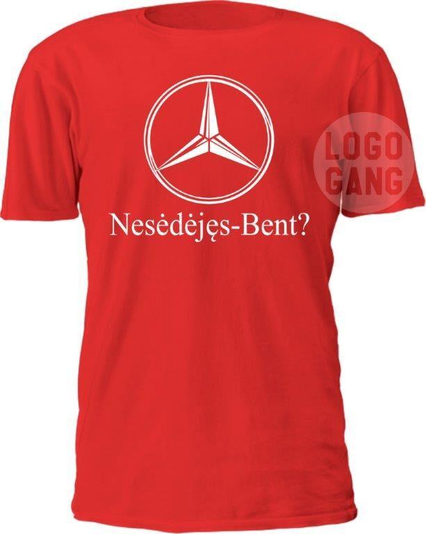 Marškinėliai su brand'o parodija