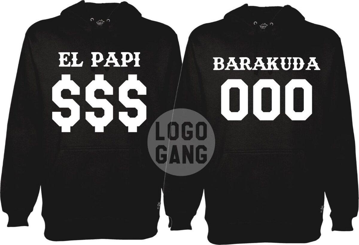 El Papi ir Barakuda džemperiai poroms