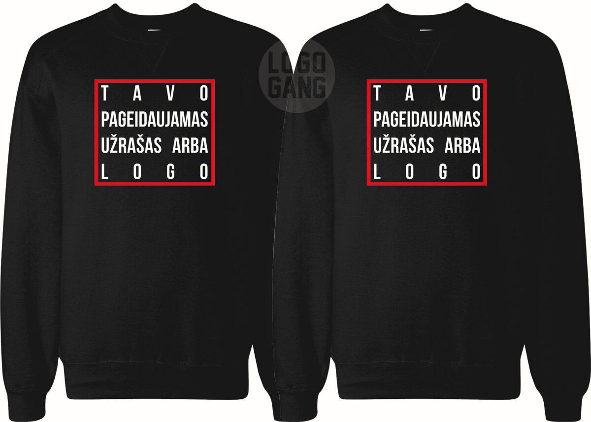 Džemperiai poroms/draugams su TAVO norimu užrašu/logo