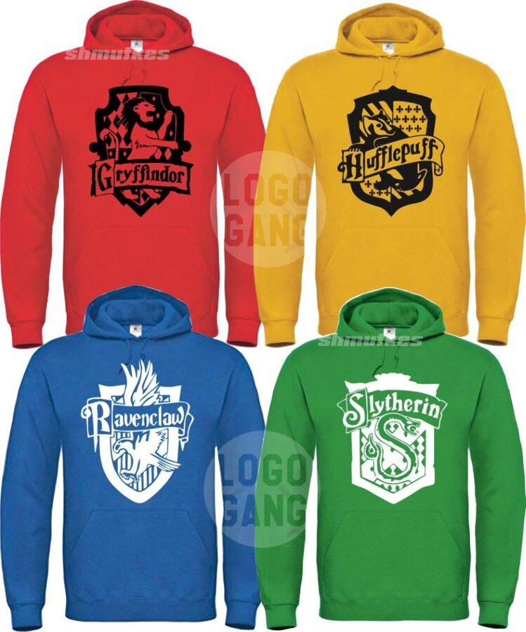 Hario Poterio Hogwartso gūžtų džemperis (Slytherin, Hufflepuff, Ravenclaw, Gryffindor)