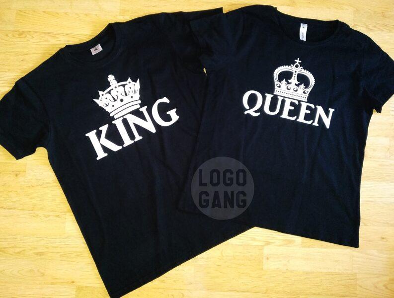 Marškinėliai Jam ir Jai poroms su norimu logo