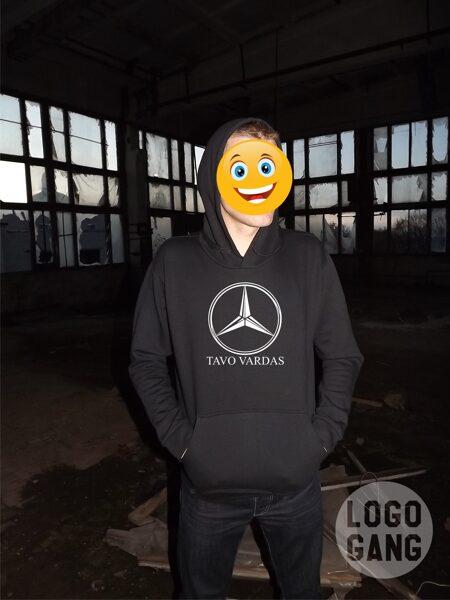 Mercedes Benz džemperis su tavo užrašu